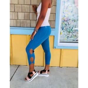 FREE PEOPLE Movement High Rise Infinity legging in Blue Moon X-Small NWOT